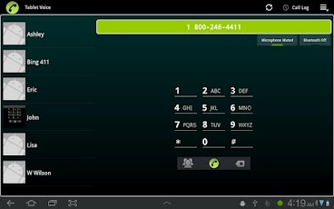 Tablet Voice - VoIP Phone keyboard phone voice