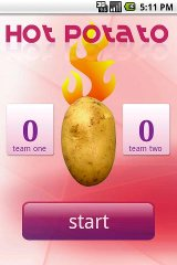 Hot Potato flew potato racing