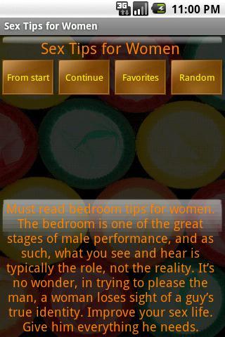 Ссылка на программу на Google Play Sex Tips for Women.