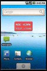 AEX Widget widget