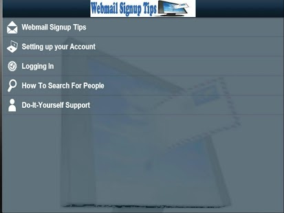 Webmail Signup Tips!!