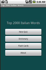2000 Italian Flashcards & Quiz