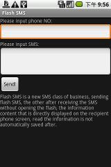 Flash SMS sms