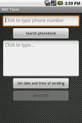 SMS Text Message Timer
