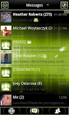 Green ICS GO SMS Theme FREE