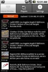 Baltimore Orioles Tweets app baltimore orioles