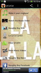 La La La- Naughty Boy