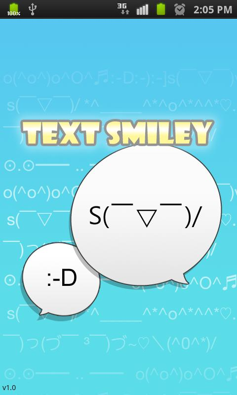 Text Smiley (ASCII Art) text message smiley faces