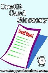 Credit Card Glossary credit one bank card
