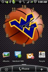 West Virginia Basketball Clock