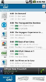 TV Listings for Android zap2it tv listings