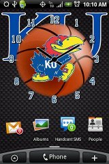 Kansas Basketball Clock Pack