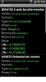 SensorInfo