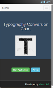 Typography Conversion Chart