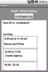 rotas staff scheduler pro af