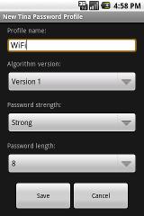 Tina Password Manager