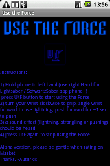 Use the Force force screen