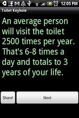 Toilet Keyhole toilet