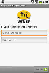 WEB.DE Mail windstream e mail