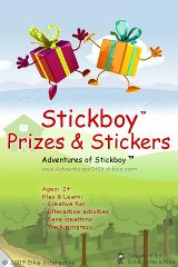Stickboy Prizes and Stickers