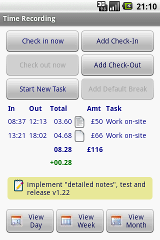 Time Recording - Timesheet App sticker time timesheet