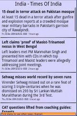 India -News-Times of India TOI india sms