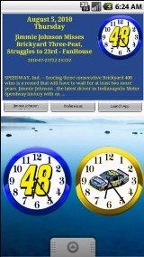 Jimmie Johnson Clock & News jimmie johnson wallpaper
