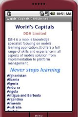 world capitals dictionary