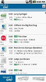 TV Listings for Android PRO zap2it tv listings