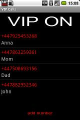 VIP Calls calls quick sms