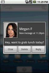 SMS Popup popup