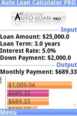 Auto Loan Calculator PRO trial
