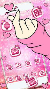 Bling Love Heart Launcher Theme Live HD Wallpapers - Apps on