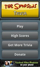 The Simpsons Trivia Game trivia questions game