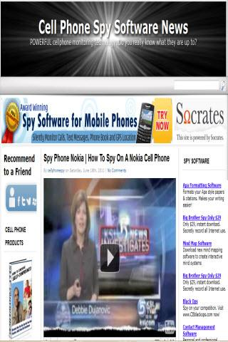 Cell Phone Spy News
