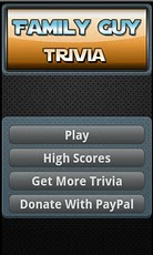 Family Guy Trivia Game trivia questions game