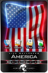 USA LIVE FLAG live wallpaper live wallpaper