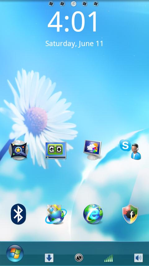 Ultimate Windows 7 GO Launcher ultimate honeycomb