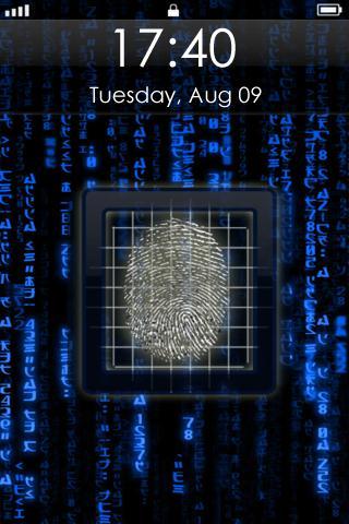 Fingerprint Screen Saver Pro finger fingerprint screen