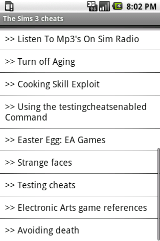 The Sims 3 PC Cheats 1.0 Android app