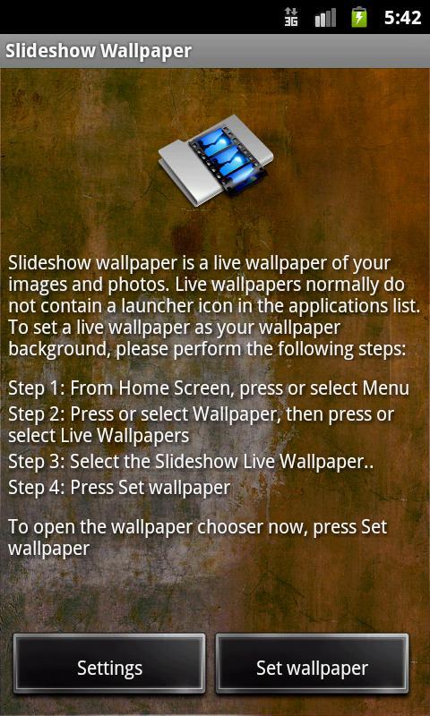 Slideshow wallpaper slideshow live wallpaper