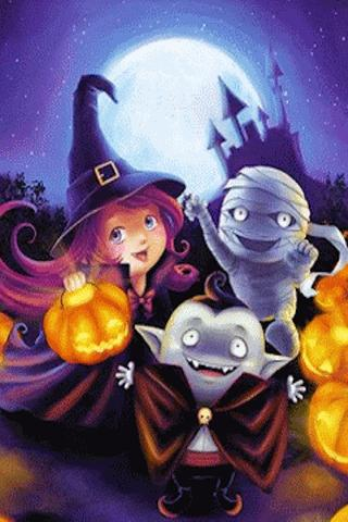 Cute Halloween Live Wallpaper Android App Midnite Star Inc.  Pyroso