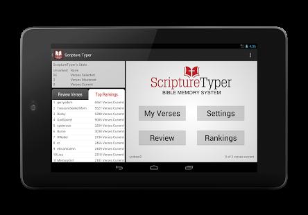 Bible Memory - Scripture Typer