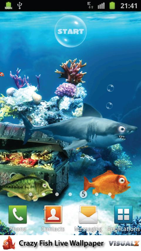 Crazy Fish Live Wallpaper 10 Android Game Apps Directories