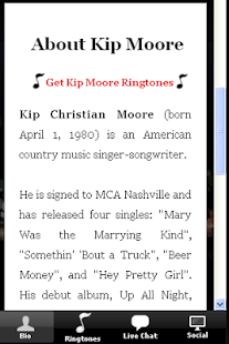 Kip Moore Ringtones & More