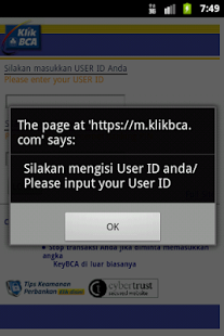 BCA Internet Banking (KLIKBCA)