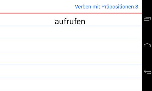 Verbos - preposiciones Alemán