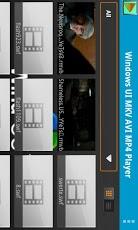 Windows UI MKV AVI MP4 Player