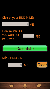 HDD Partition Calculator