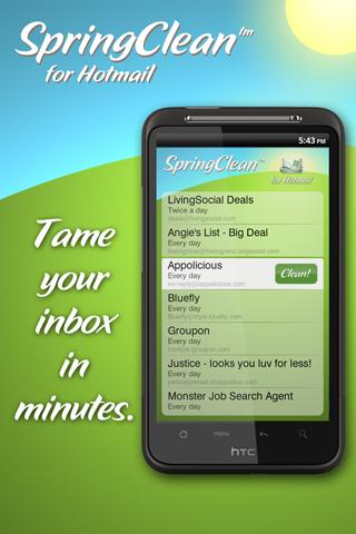 SpringClean for Hotmail hotmail hacker download